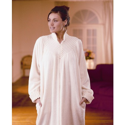 Soft Cotton Chenille Zip Dressing Gown 4fc6eedb1ebb