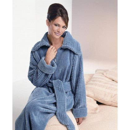 Fluffy Cotton Chenille Zip Dressing Gown 468e1f9165c0